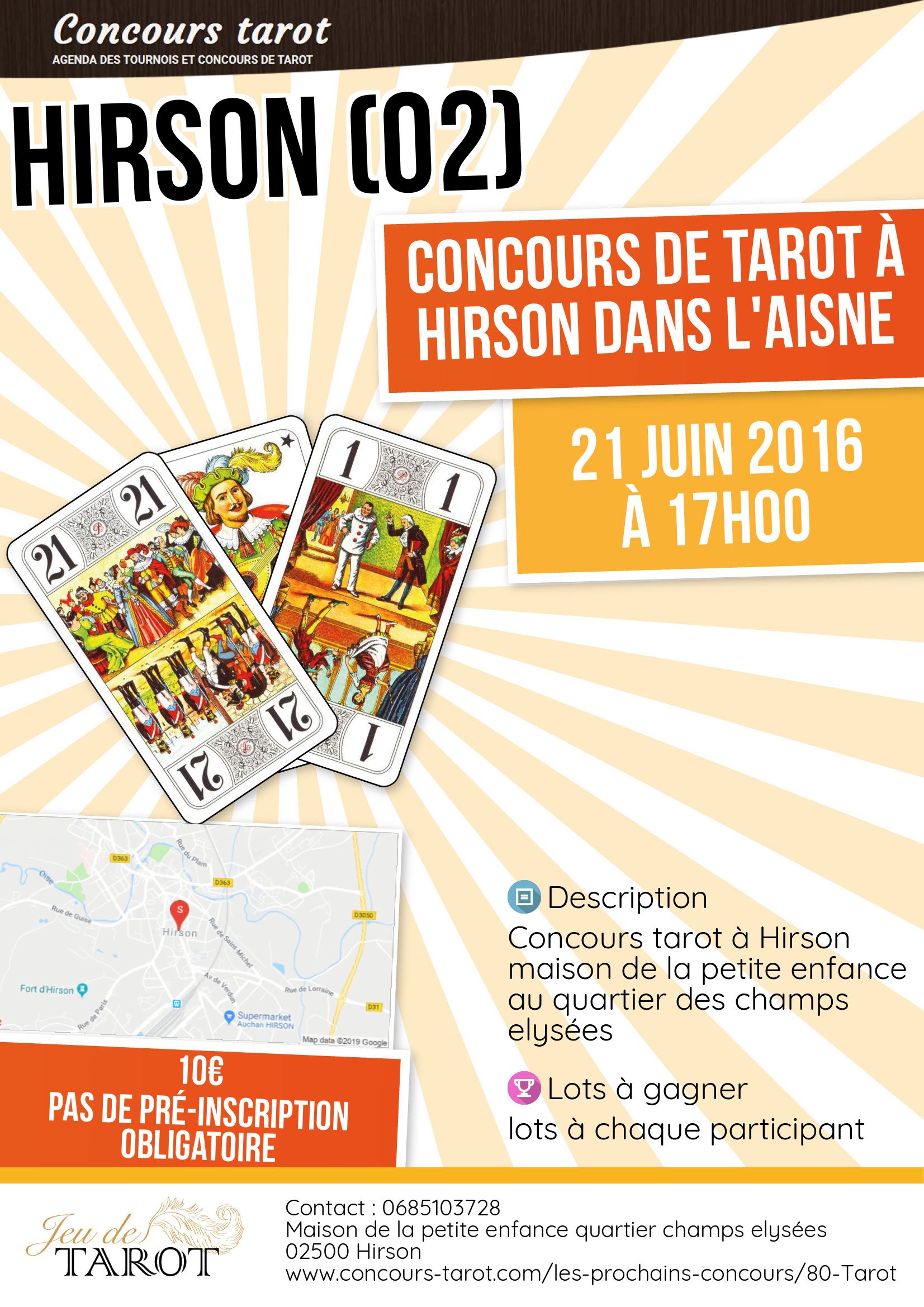 concours de tarot hirson dans l 39 aisne en aisne hirson le 21 juin 2016. Black Bedroom Furniture Sets. Home Design Ideas